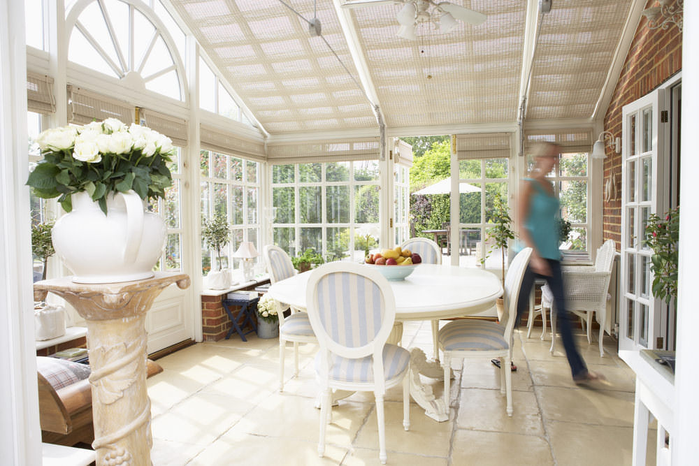Bright and Airy Conservatory Dining Room