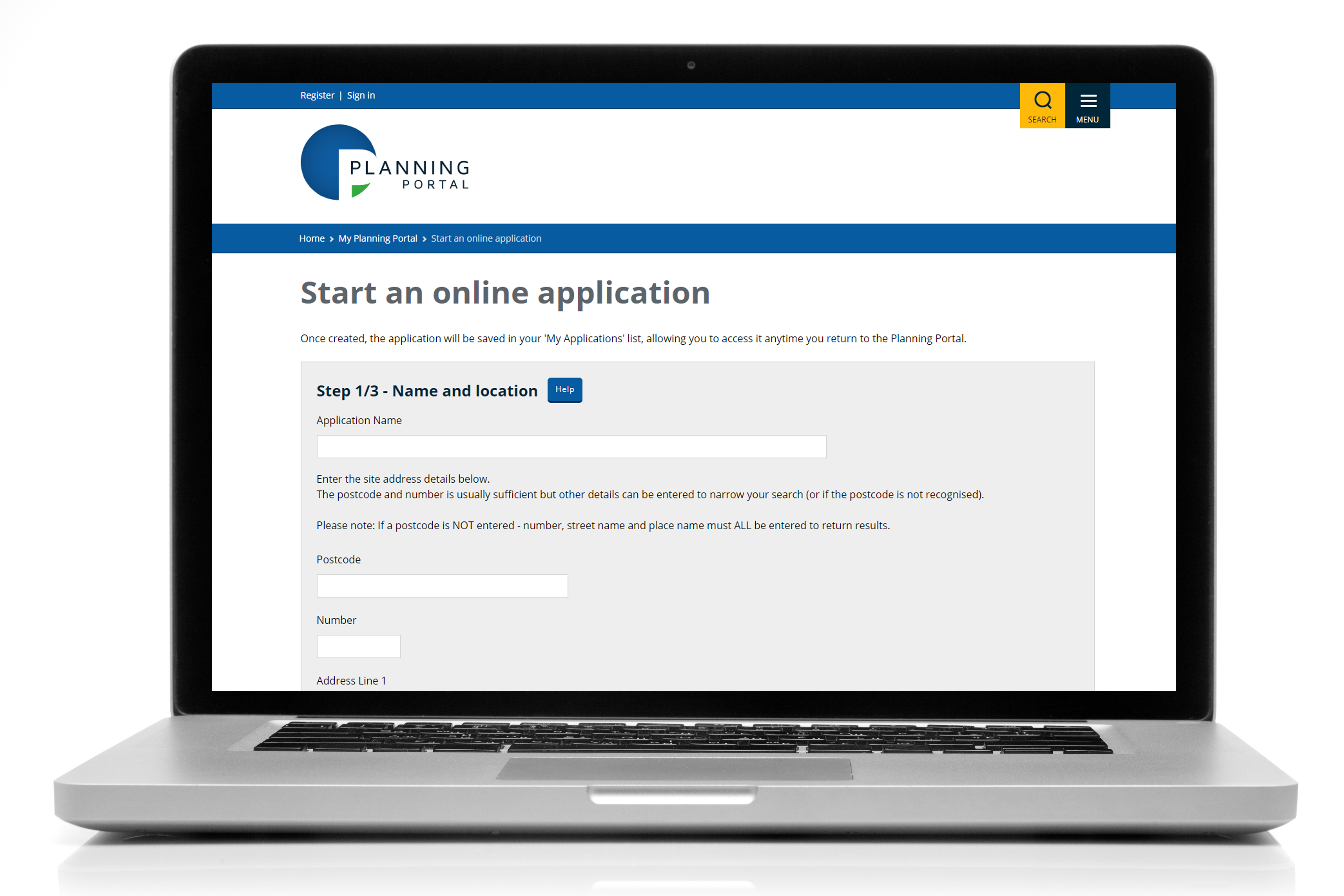 online planning application